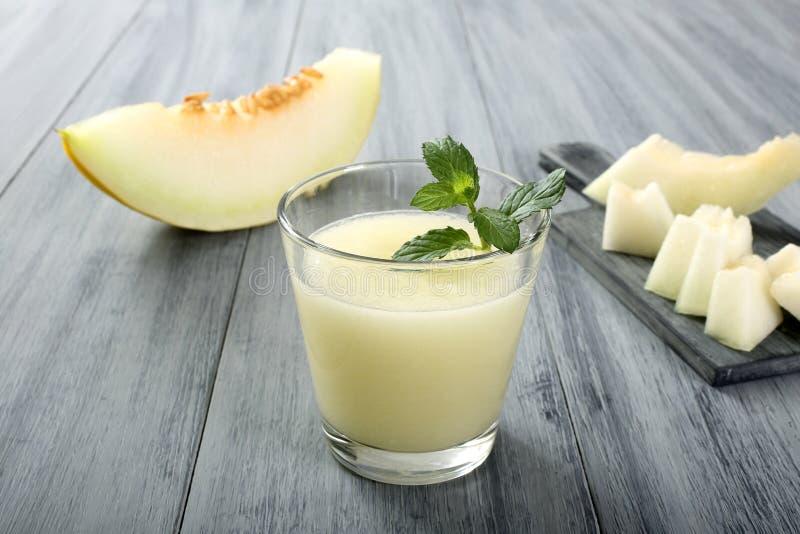 Meloen smoothie royalty-vrije stock fotografie