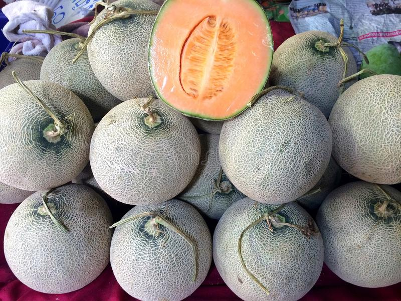 Meloenfruit royalty-vrije stock foto's