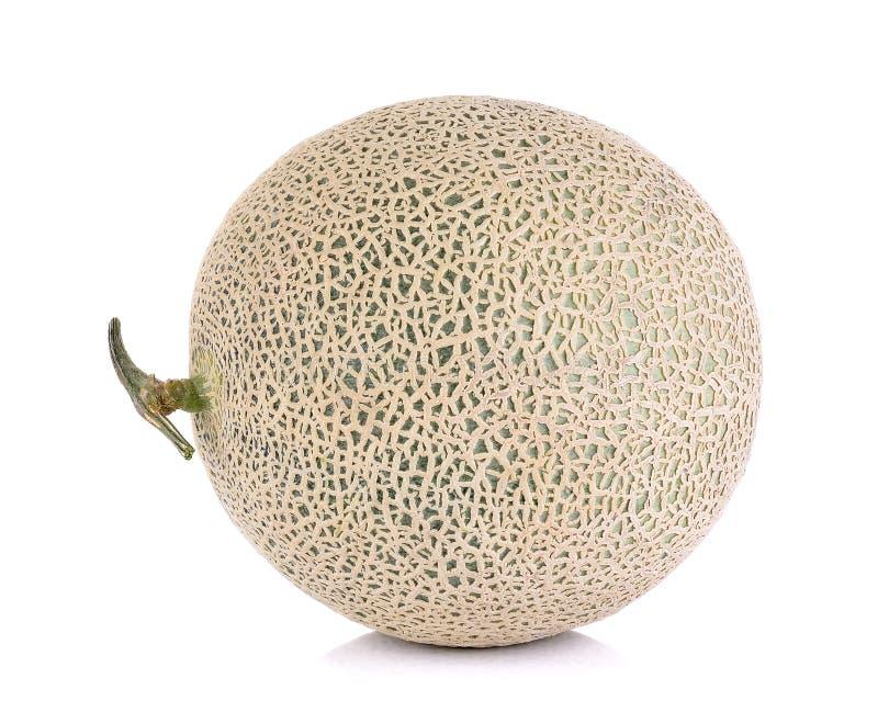 Meloenfruit op de witte achtergrond wordt geïsoleerd die royalty-vrije stock afbeelding