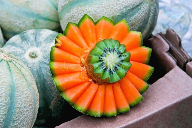 Meloenkiwi stock afbeeldingen