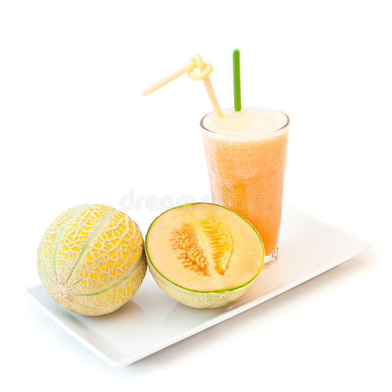 Meloenmilkshake stock fotografie