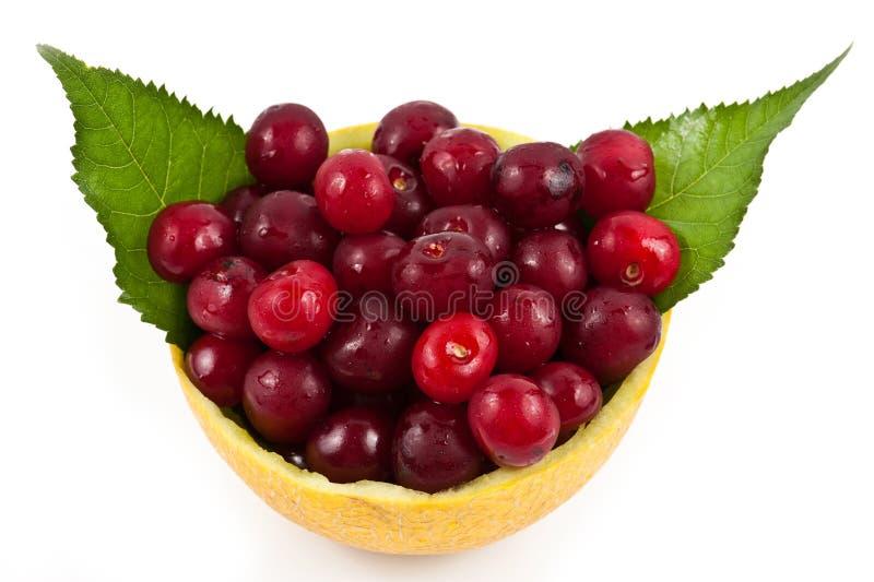 Melon with cherry mix royalty free stock photos