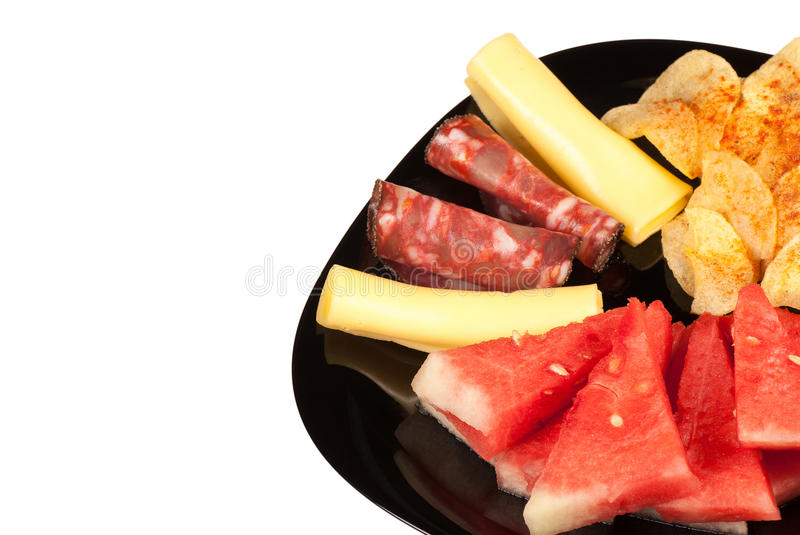 Download Melon with cold meat stock photo. Image of chips, copy - 25807492