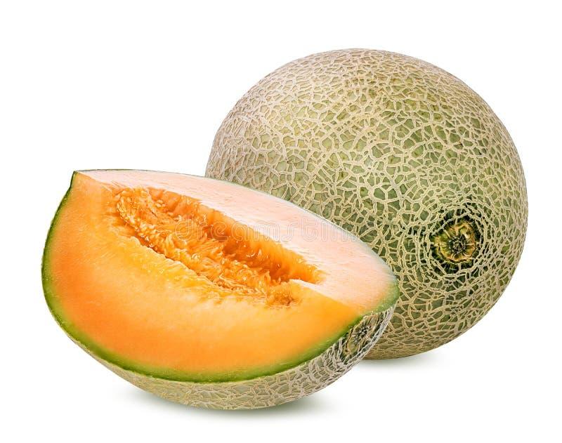 Melon d'isolement sur le blanc photographie stock libre de droits