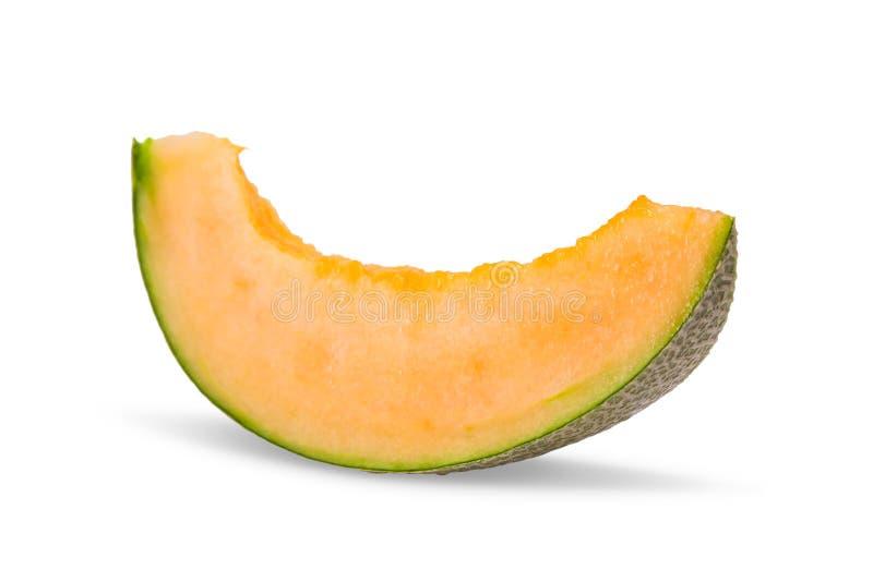 Melon de cantaloup dans la tranche image stock