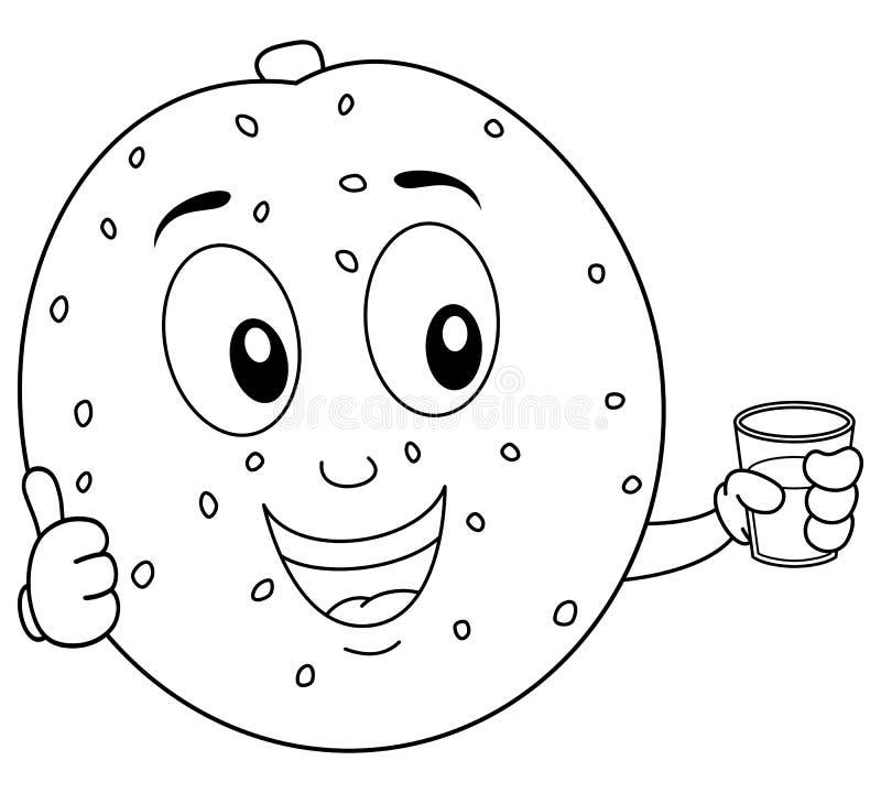 Melon de coloration avec du jus serré frais illustration stock