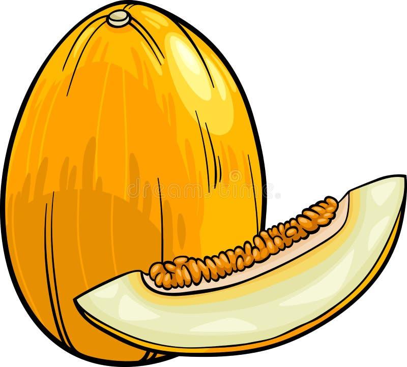 Melon fruit cartoon illustration royalty free illustration