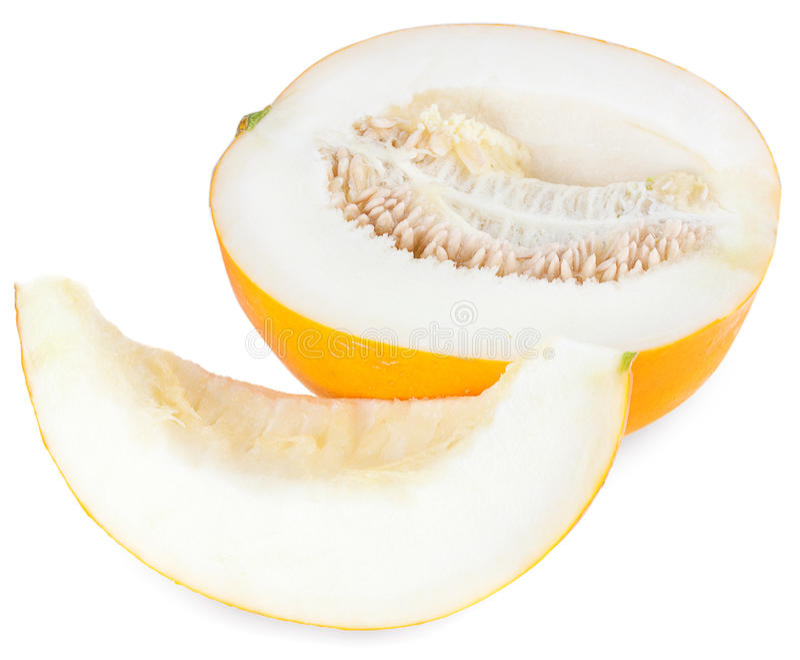 Melon jaune frais images stock