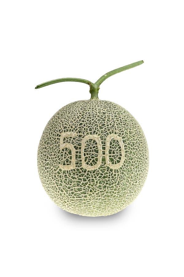 Melon lub kantalupa melon z ziarnami odizolowywającymi na białym backgroun fotografia stock