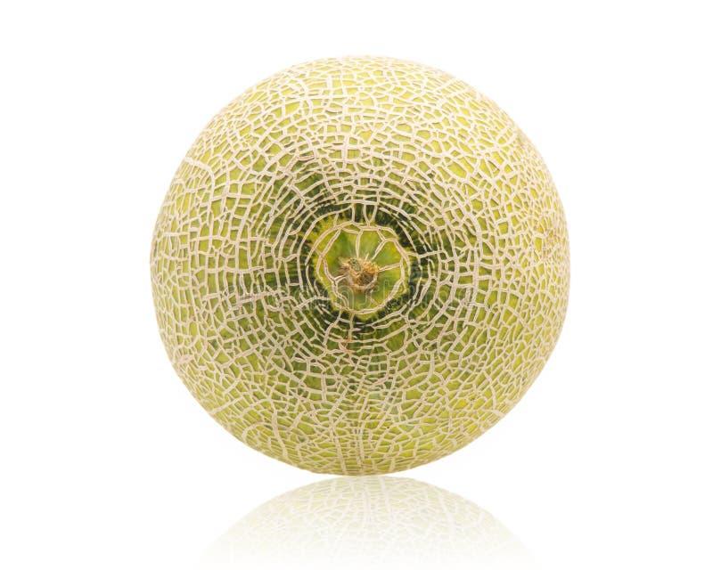 Melon melonskivor som isoleras på vit bakgrund royaltyfria bilder