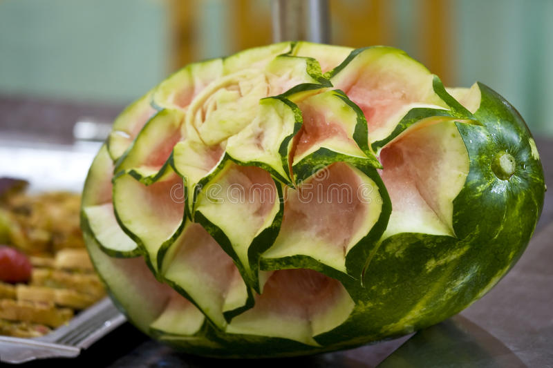 Download Melon with rose texture stock photo. Image of abstract - 12236814