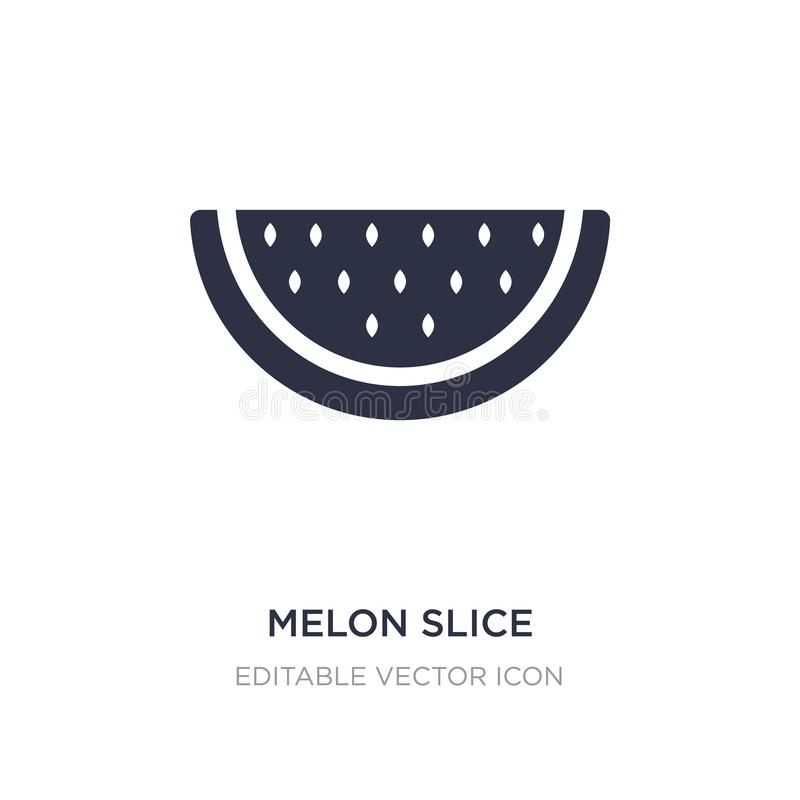 Melon slice icon on white background. Simple element illustration from Food concept. Melon slice icon symbol design stock illustration