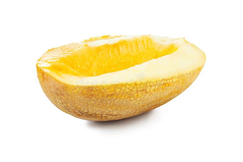 Melon. Slice isolated on white background royalty free stock image