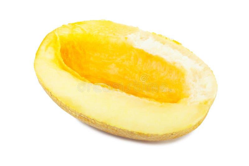 Melon. Slice isolated on white background stock photo