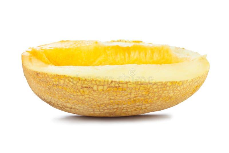 Melon. Slice isolated on white background stock images