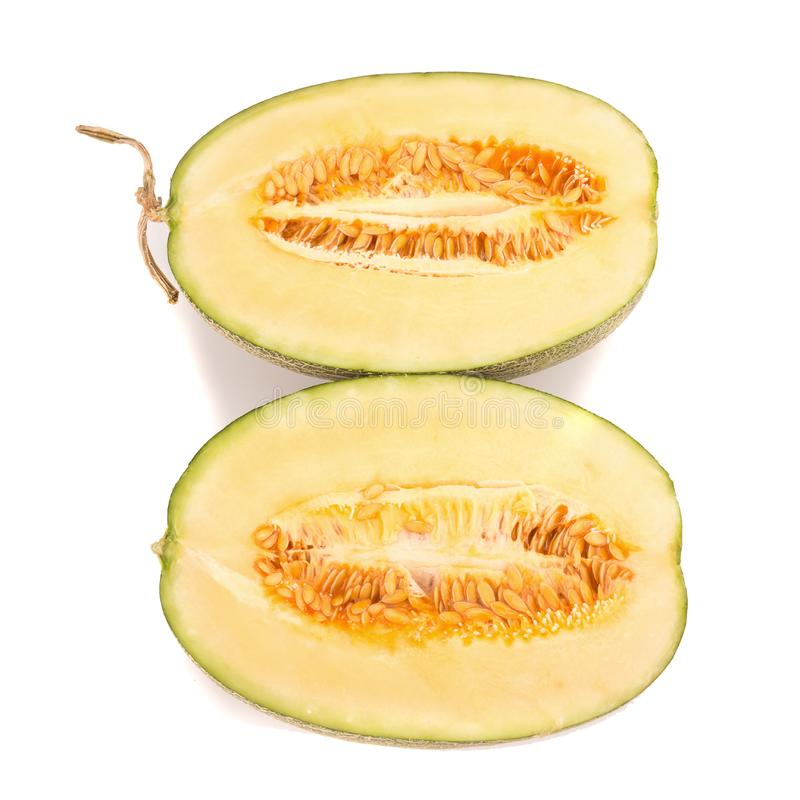 melon on white royalty free stock photo