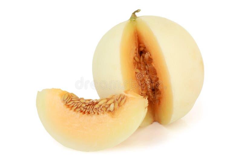 Melon. On a white background royalty free stock photo