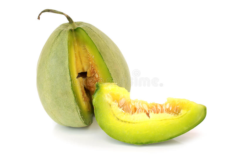 Melon. On a white background stock images