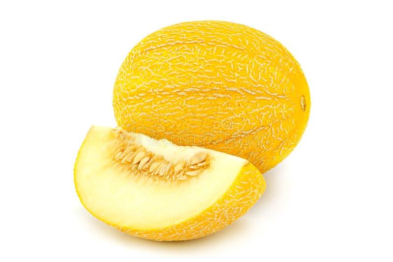 Melon on white background stock photos