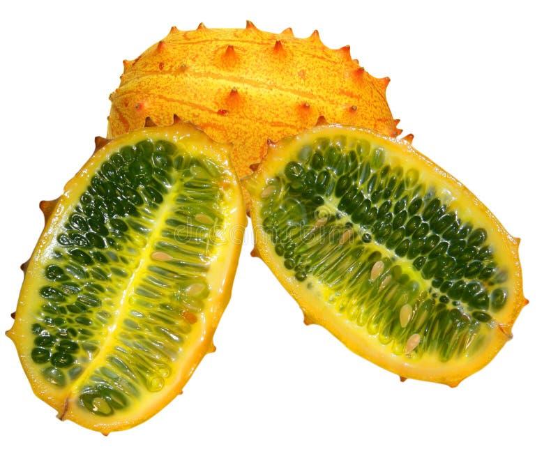 Melone cornuto di kiwano fotografia stock libera da diritti