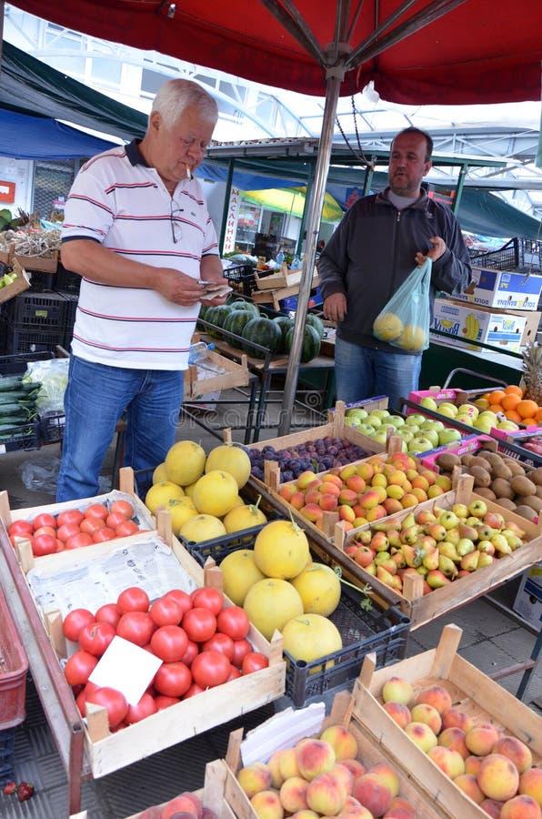Melone in einem Markt lizenzfreie stockfotos