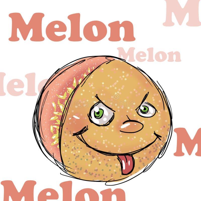 Melone, Illustration stock abbildung
