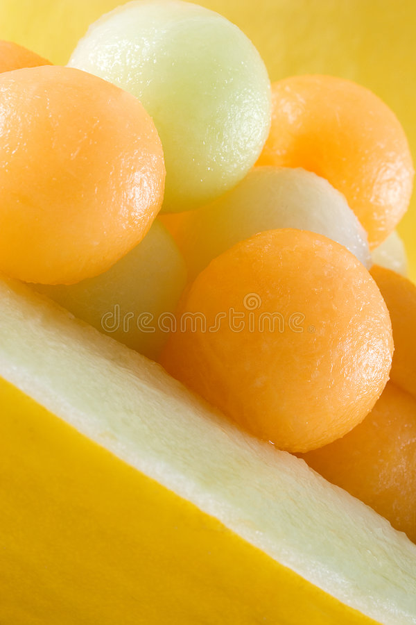 Melone-Kugeln lizenzfreie stockbilder