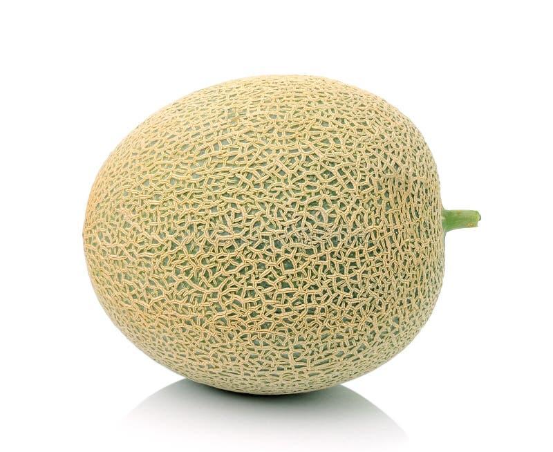 Melone lokalisiert auf weißem Hintergrund stockbilder