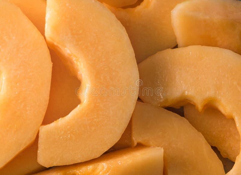 Melonenscheibe Fruchtscheibe essfertig stockfotos