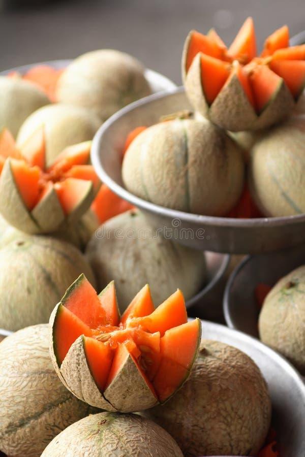 Melones del cantalupo fotos de archivo