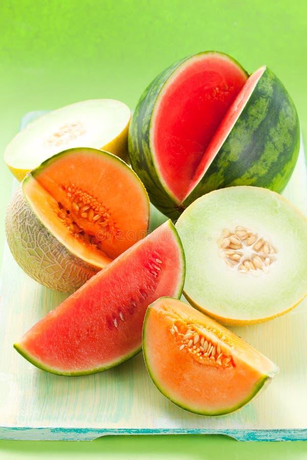 Meloni ed anguria fotografia stock libera da diritti