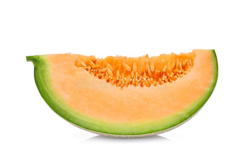 Meloni giapponesi affettati, melone verde o melone del cantalupo immagine stock