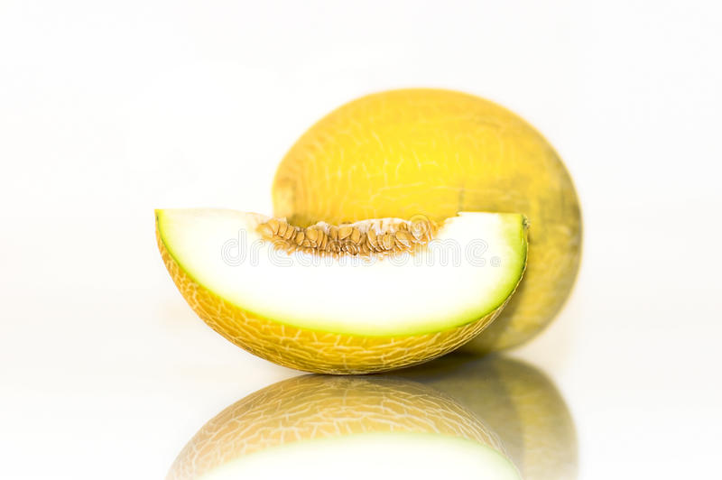 melonowy kolor żółty fotografia stock