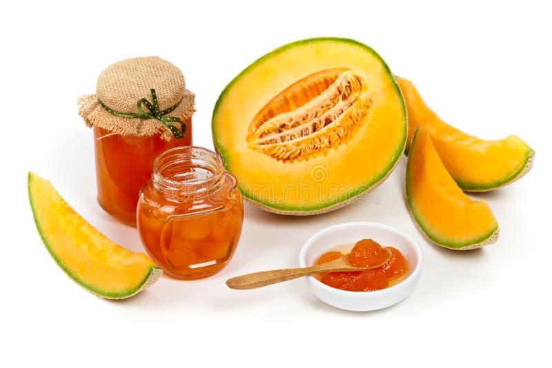 Melonowy kompot lub dżem zdjęcia royalty free