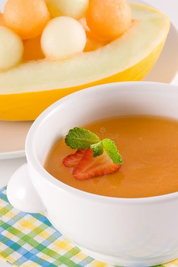 melonowy zupę. zdjęcie royalty free