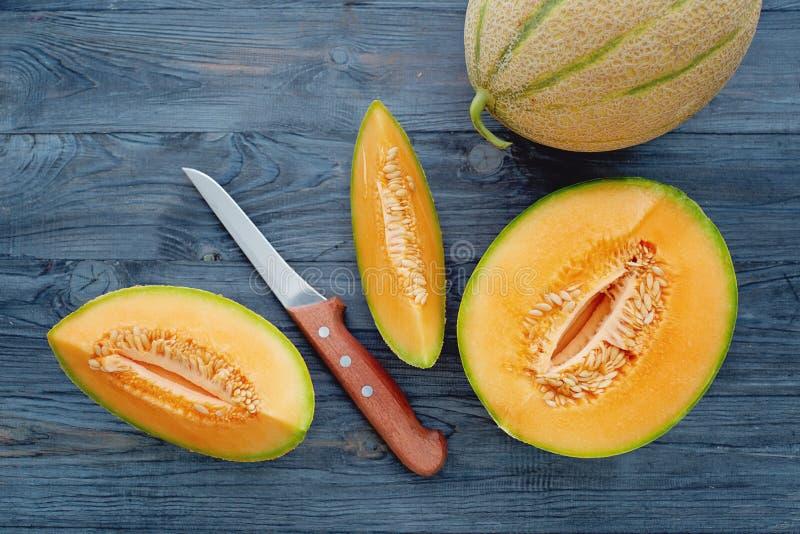 Melons de cantaloup images libres de droits