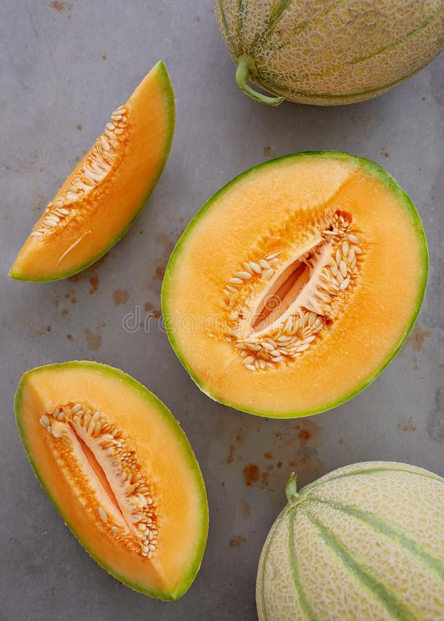 Melons de cantaloup image libre de droits