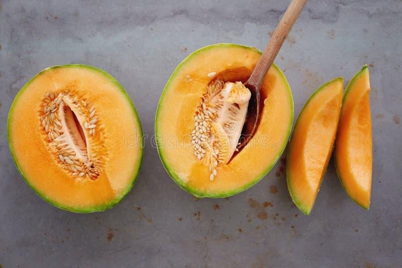 Melons de cantaloup photographie stock