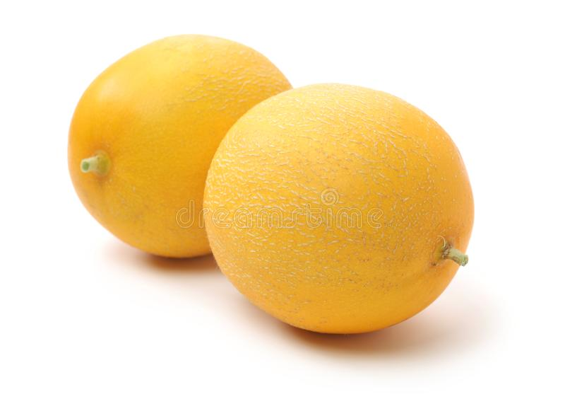 Melons de miell?e jaunes images stock