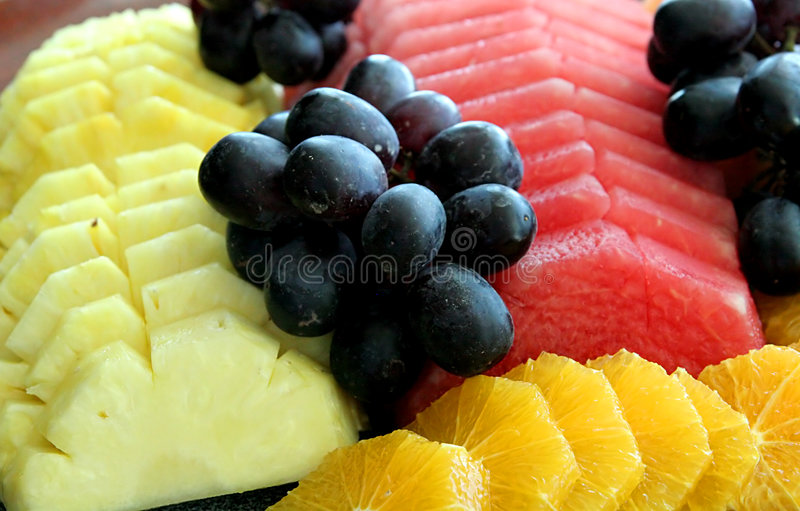 Melons and Grapes royalty free stock photography