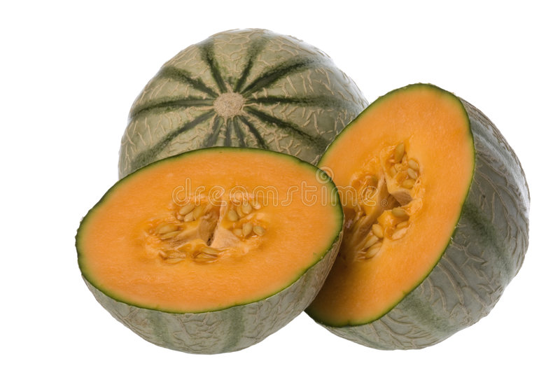melons japonais d'isolement photos stock