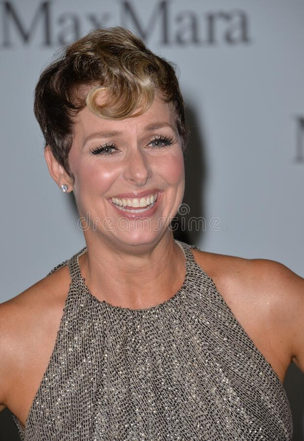 Melora Hardin. LOS ANGELES, CA - JUNE 16, 2015: Actress Melora Hardin at the Women in Film 2015 Crystal + Lucy Awards at the Hyatt Regency Century Plaza Hotel stock image