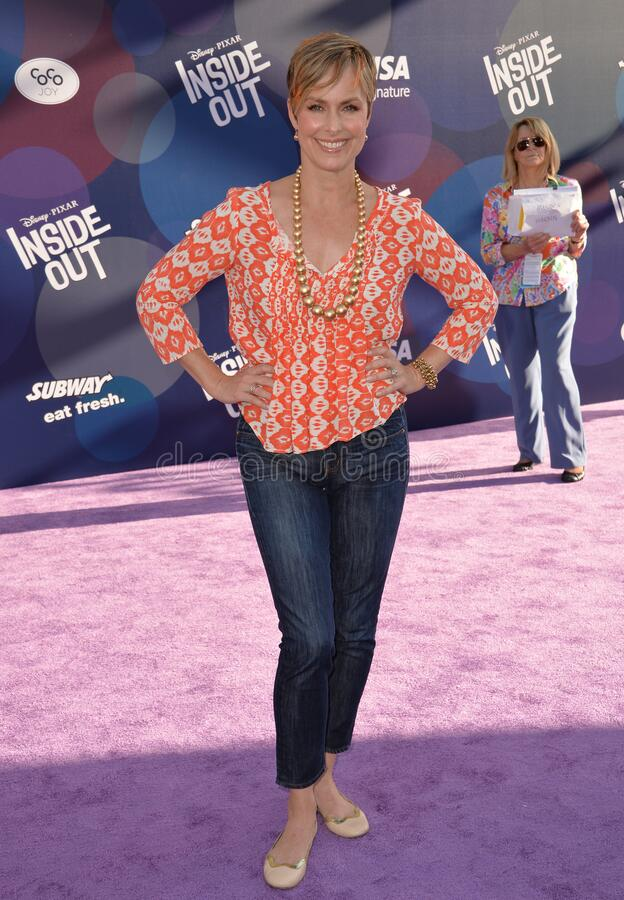 Melora Hardin. LOS ANGELES, CA - JUNE 9, 2015: Melora Hardin at the Los Angeles premiere of Disney-Pixar's Inside Out at the El Capitan Theatre, Hollywood stock photography