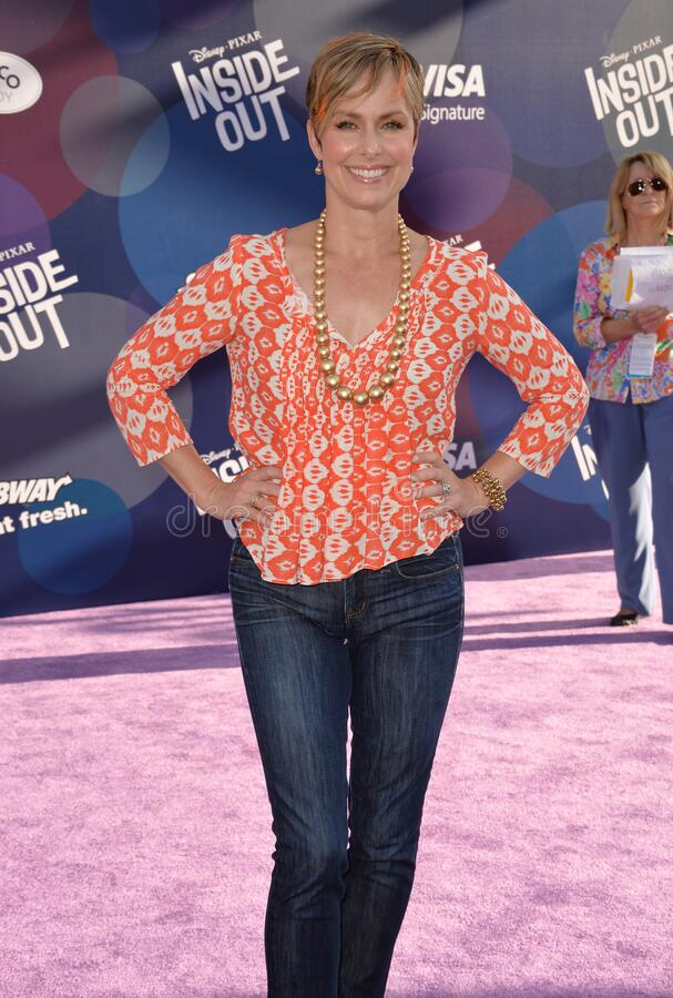 Melora Hardin. LOS ANGELES, CA - JUNE 9, 2015: Melora Hardin at the Los Angeles premiere of Disney-Pixar's Inside Out at the El Capitan Theatre, Hollywood stock images
