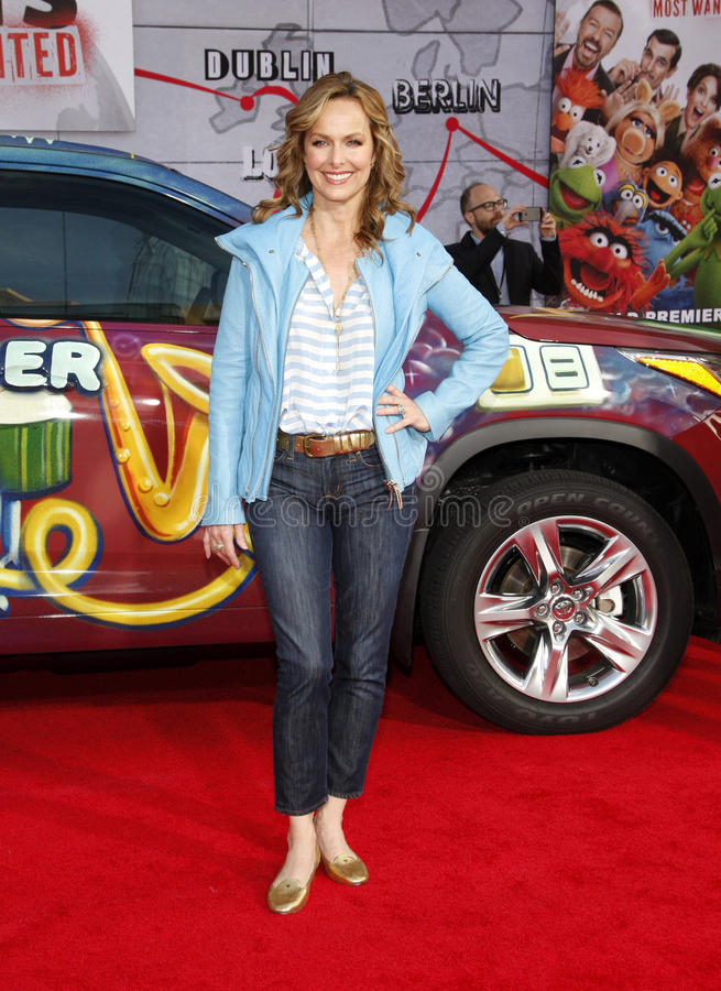 Melora Hardin. At the Los Angeles premiere of Muppets Most Wanted held at the El Capitan Theatre in Los Angeles, United States, 110314 royalty free stock photography