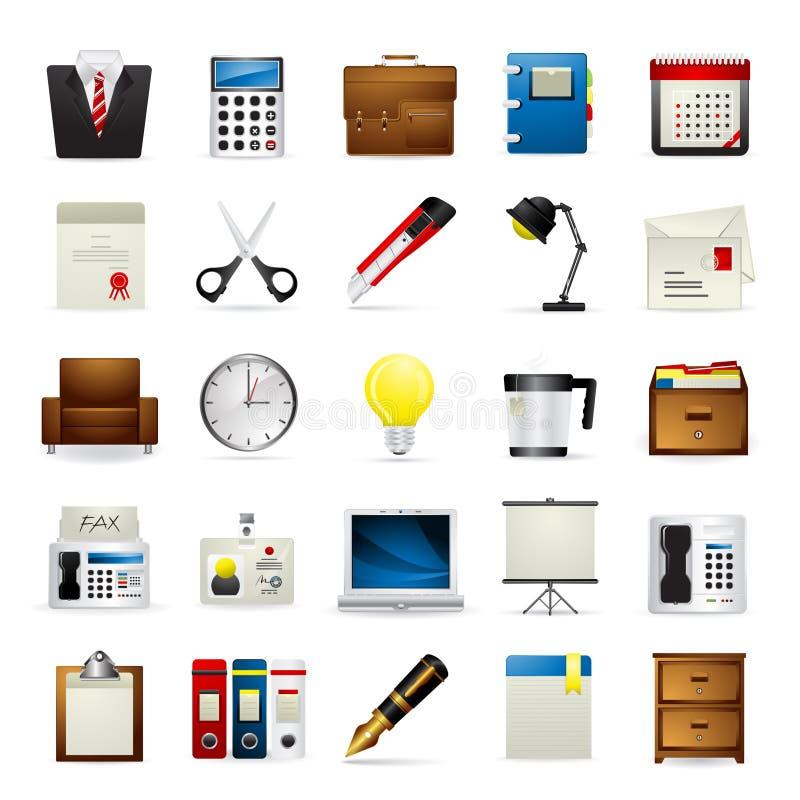 Meloti Ikonen-Serie - Büro lizenzfreie abbildung