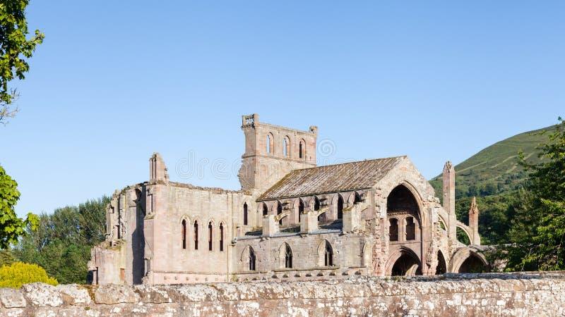 Melrose αβαείο στα σκωτσέζικα σύνορα στοκ εικόνες