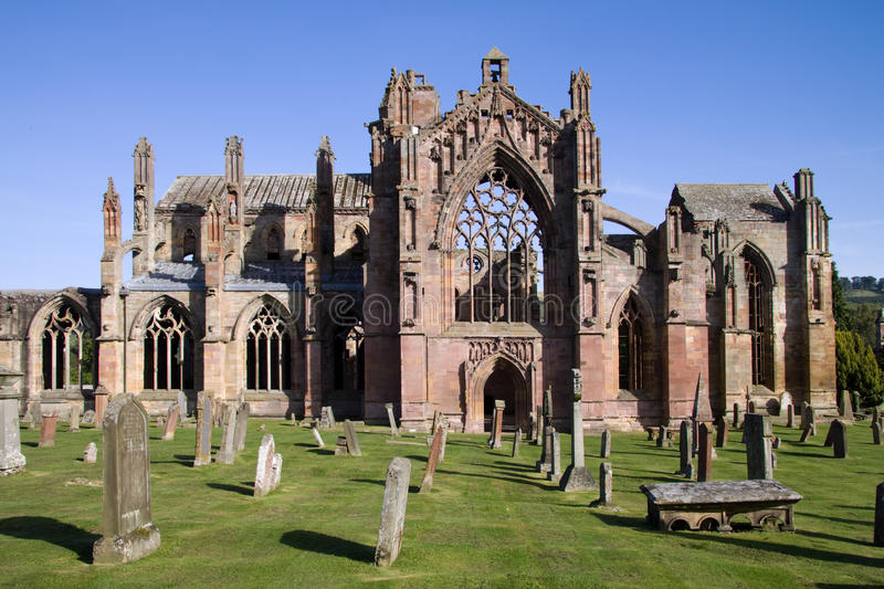 Melrose Abbey royalty free stock image