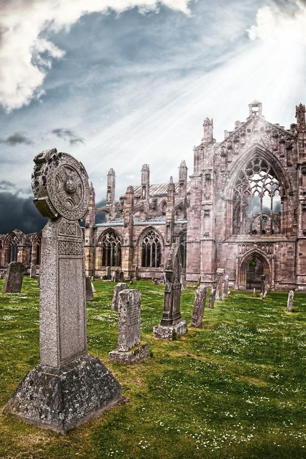 Melrose Abbey - a place to stay until the end royalty free stock images