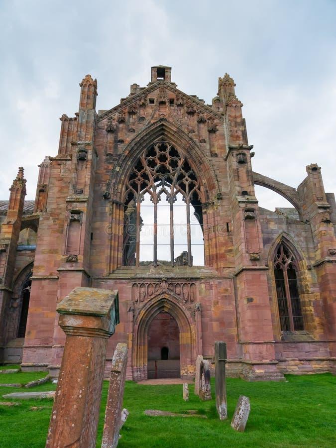 Melrose opactwo, Szkocja obrazy royalty free